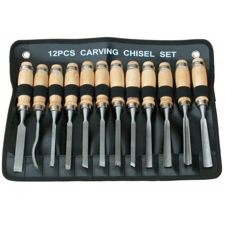 Tooline 12 Piece Carving Chisel Set