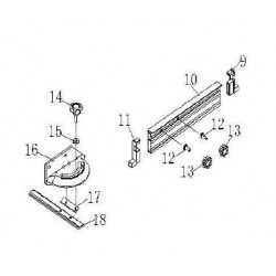 Mitre Gauge Assembly (Parts 9 - 18) for TS250